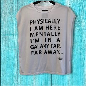 Star Wars Physically I'm here Graphic Tee